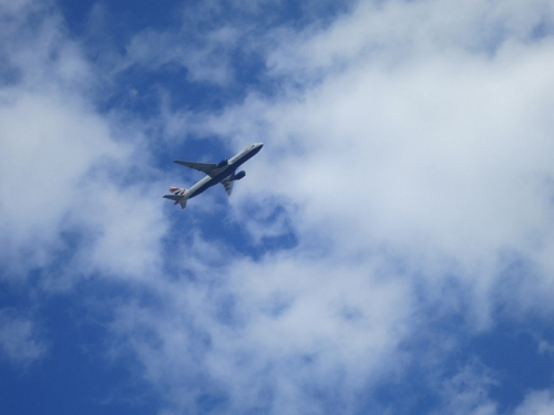 Plane over Teddington