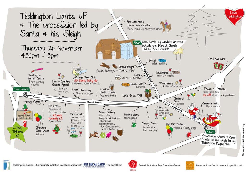 teddington christmas lights 2018 road closures