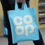 Undated handout photo issued by the Co-op of a tote bag with the restored blue clover-leaf logo, as the Co-op is to become the first UK retailer to use only Fairtrade cocoa in its products, giving a huge boost to the Fairtrade movement. PRESS ASSOCIATION Photo. Issue date: Saturday February 25, 2017. See PA story INDUSTRY Coop. Photo credit should read: Co-op/PA Wire  NOTE TO EDITORS: This handout photo may only be used in for editorial reporting purposes for the contemporaneous illustration of events, things or the people in the image or facts mentioned in the caption. Reuse of the picture may require further permission from the copyright holder.