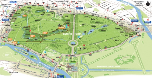 Bushy Park Map Bushy Park future proof map – Teddington, Middlesex, UK