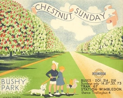 Chestnut Sunday posters from the London Transport Museum