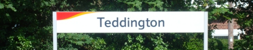 Teddington Train Station Signpost