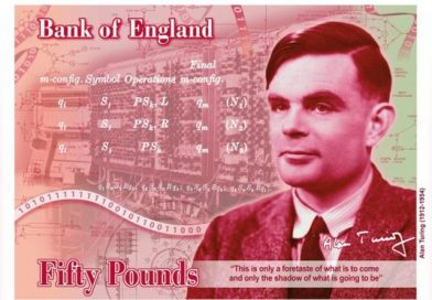 New face of the Bank of England's £50 note is revealed as Alan Turing