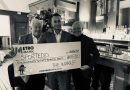 SportTedd donation received by The Wharf Restaurant in Teddington.